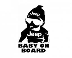 Jeep Baby on Board Sticker