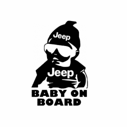 Jeep Baby on Board Sticker