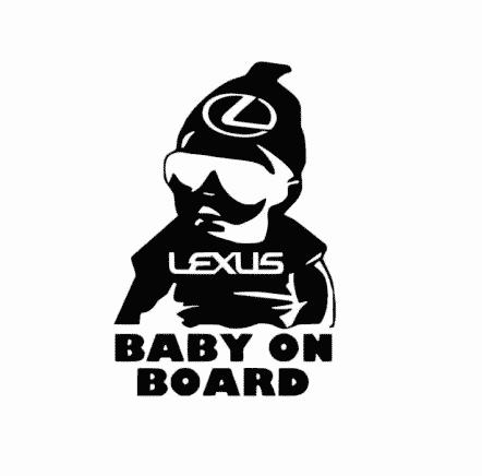 Lexus Baby on Board Sticker