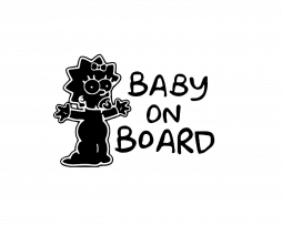 Maggie Baby on Board Stickers