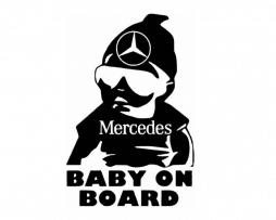 Mercedes Baby on Board Sticker