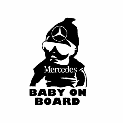 Mercedes Baby on Board Sticker