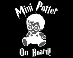 Mini Potter Baby on Board Sticker