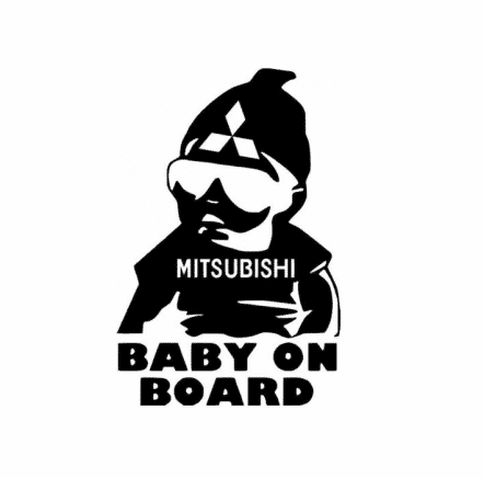 Mitsubishi Baby on Board Sticker