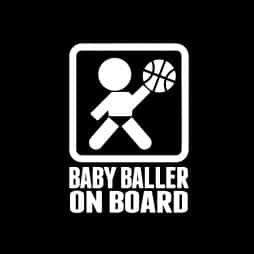 Baby Baller on Board Sticker