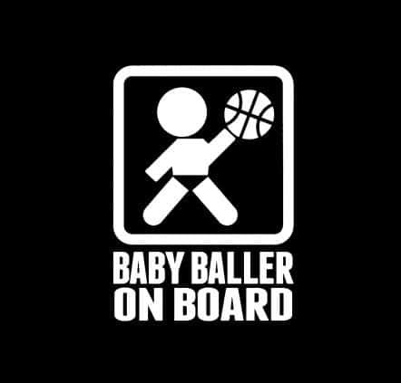 Baby Baller on Board Sticker