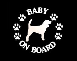 Baby Beagle on Board Sticker