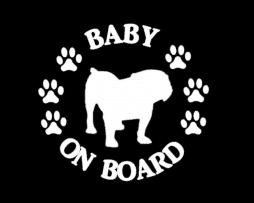 Baby Bulldog on Board Sticker