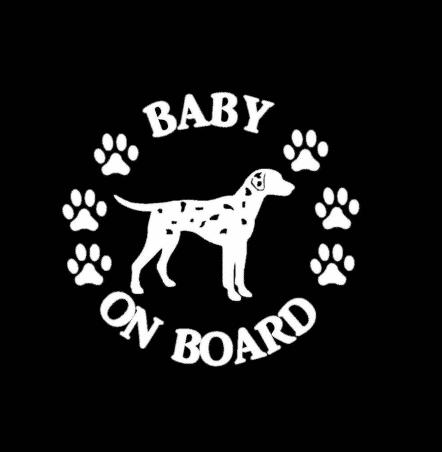 Baby Dalmatian on Board Sticker