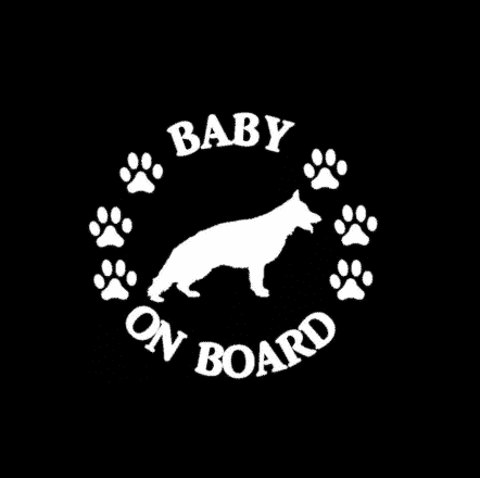 Baby German Shepherd on Board Sticker