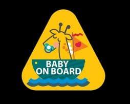 Baby Giraffe Baby on Board Sticker