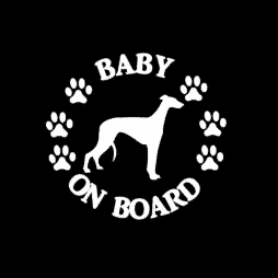 Baby Greyhound on Board Sticker