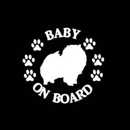 Baby Pomeranian on Board Sticker