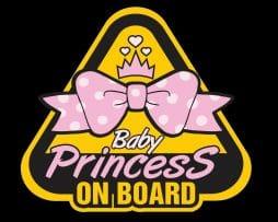 Baby Princess on Board Sticker