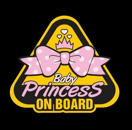 Baby Princess on Board Sticker