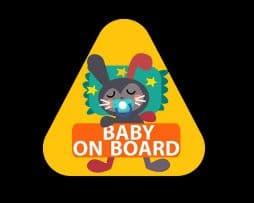 Baby Rabbit Baby on Board Sticker