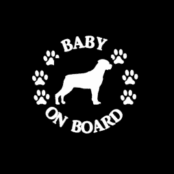 Baby Rottweiler on Board Sticker