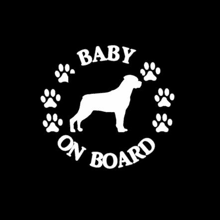 Baby Rottweiler on Board Sticker