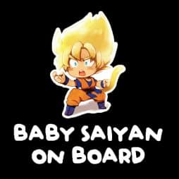 Baby Saiyan on Board Sticker