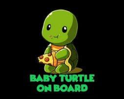 Baby Turtle On Board Sticker