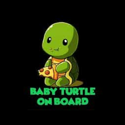 Baby Turtle On Board Sticker
