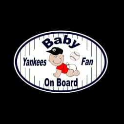Baby Yankee Baby on Board Sticker