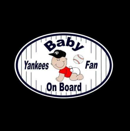 Baby Yankee Baby on Board Sticker