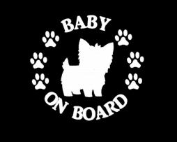 Baby Yorkie on Board Sticker