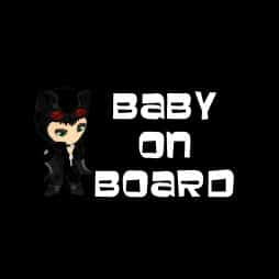 Catwoman Baby on Board Sticker