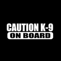 Caution K-9 On Board Sticker