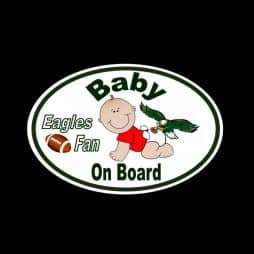 Eagles Fan Baby on Board Sticker