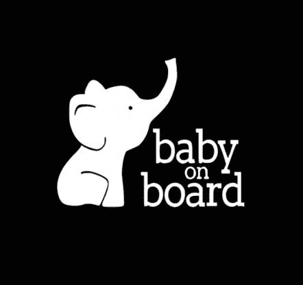 Elephant Baby on Board Sticker