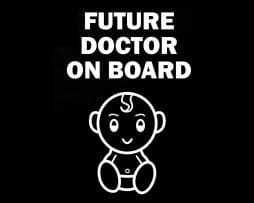 Future Doctor on Board Sticker