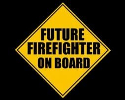 Future Firefighter on Board Sticker