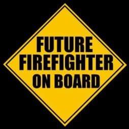 Future Firefighter on Board Sticker