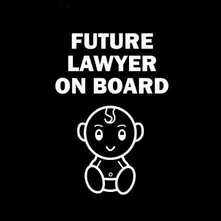 Future Lawyer on Board Sticker