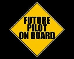 Future Pilot on Board Sticker