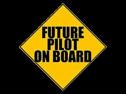 Future Pilot on Board Sticker