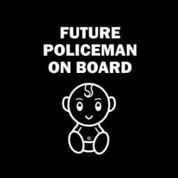 Future Policeman on Board Sticker