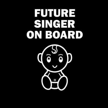 Future Singer on Board Sticker