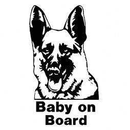 German Shepherd Baby On Board Sticker