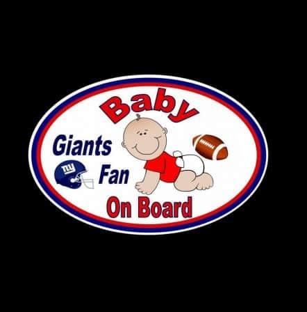 Giants Fan Baby on Board Sticker