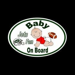 Jets Fan Baby on Board Sticker