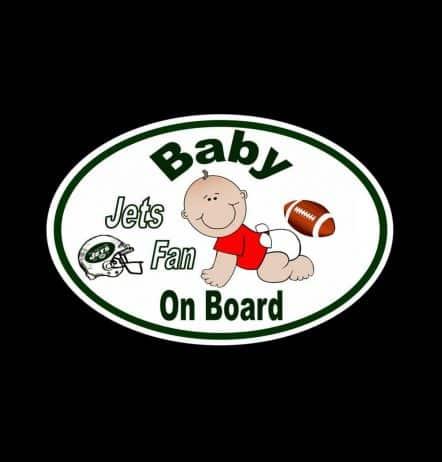 Jets Fan Baby on Board Sticker