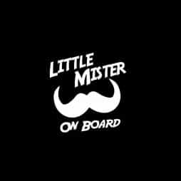 Little Mister on Board Sticker