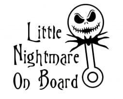 Little Nightmare on Board Sticker