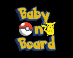Pokemon Pikachu Baby on Board Sticker