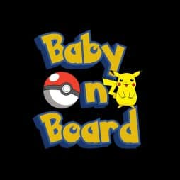 Pokemon Pikachu Baby on Board Sticker