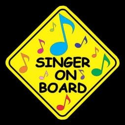 Singer On Board Decal