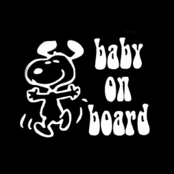 Snoopy Baby On Board Sticker Decal